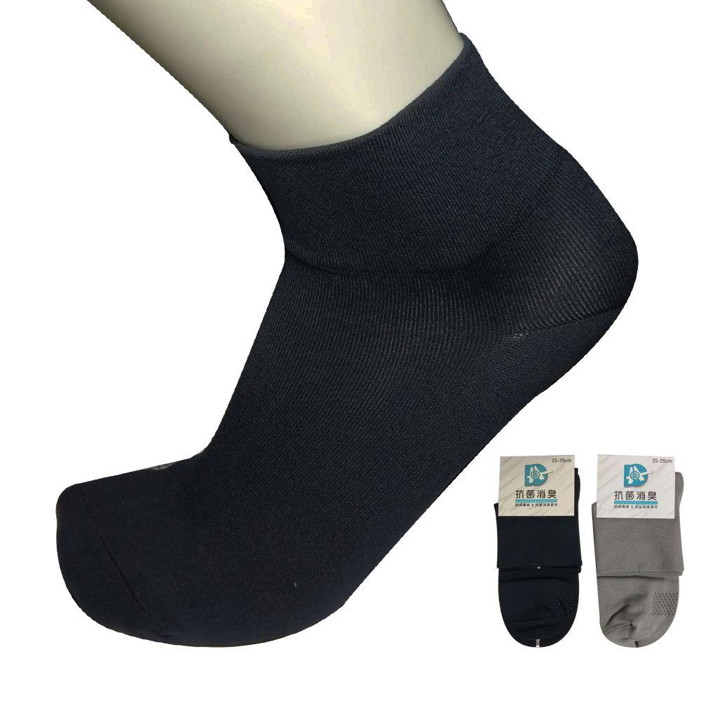 本之豐, 男性短襪/休閒襪, Protimo超細抗菌消臭紗止滑寬口 款  (加大尺碼可穿)
