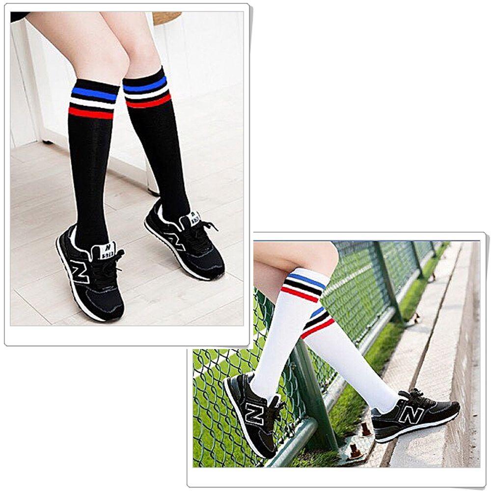 本之豐, 足球襪/半統襪, 棉質細針半統條紋 款