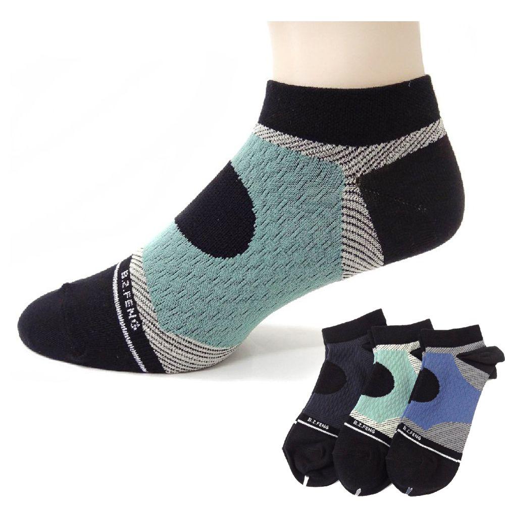 本之豐, 男性船襪/運動襪, 奈米氧化鋅萊卡繃帶加壓抗菌消臭運動(加大尺碼可穿) 款