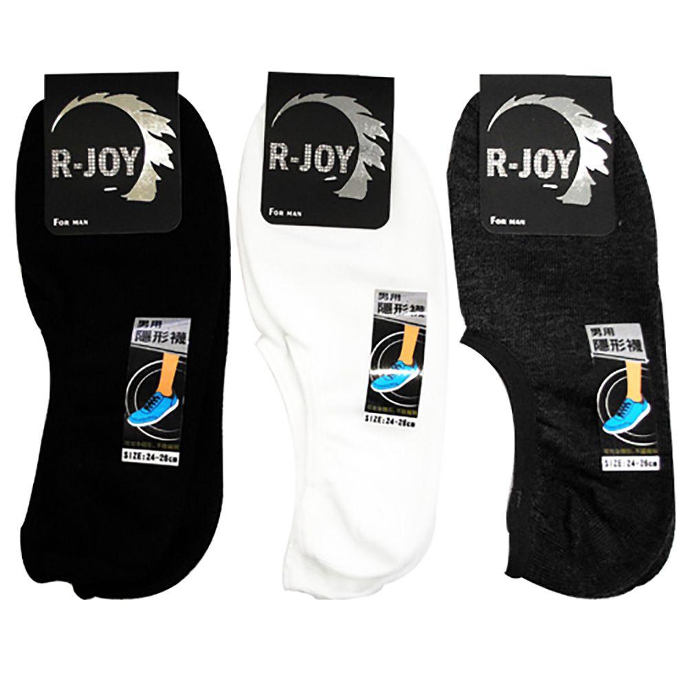 [最後出清] 榭克絲 R-JOY, 男性隱形襪/船襪, 手工淺口素色 款