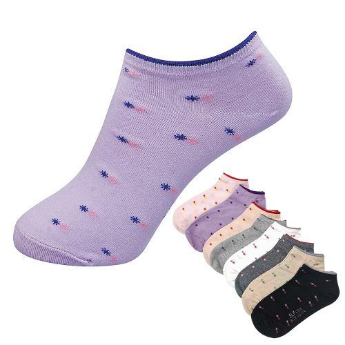 三合豐 ELF, 船襪, 精梳棉密針雪花淑女 款