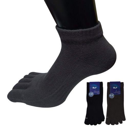 三合豐 ELF, 五趾襪, 厚磅精梳棉短統有後跟 ...