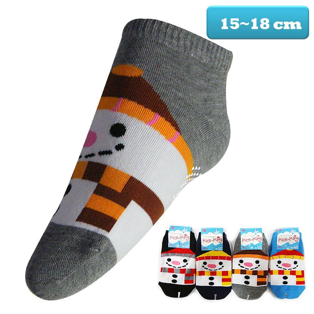 本之豐, 短童襪, 棉質直板雪人圖案止滑 款