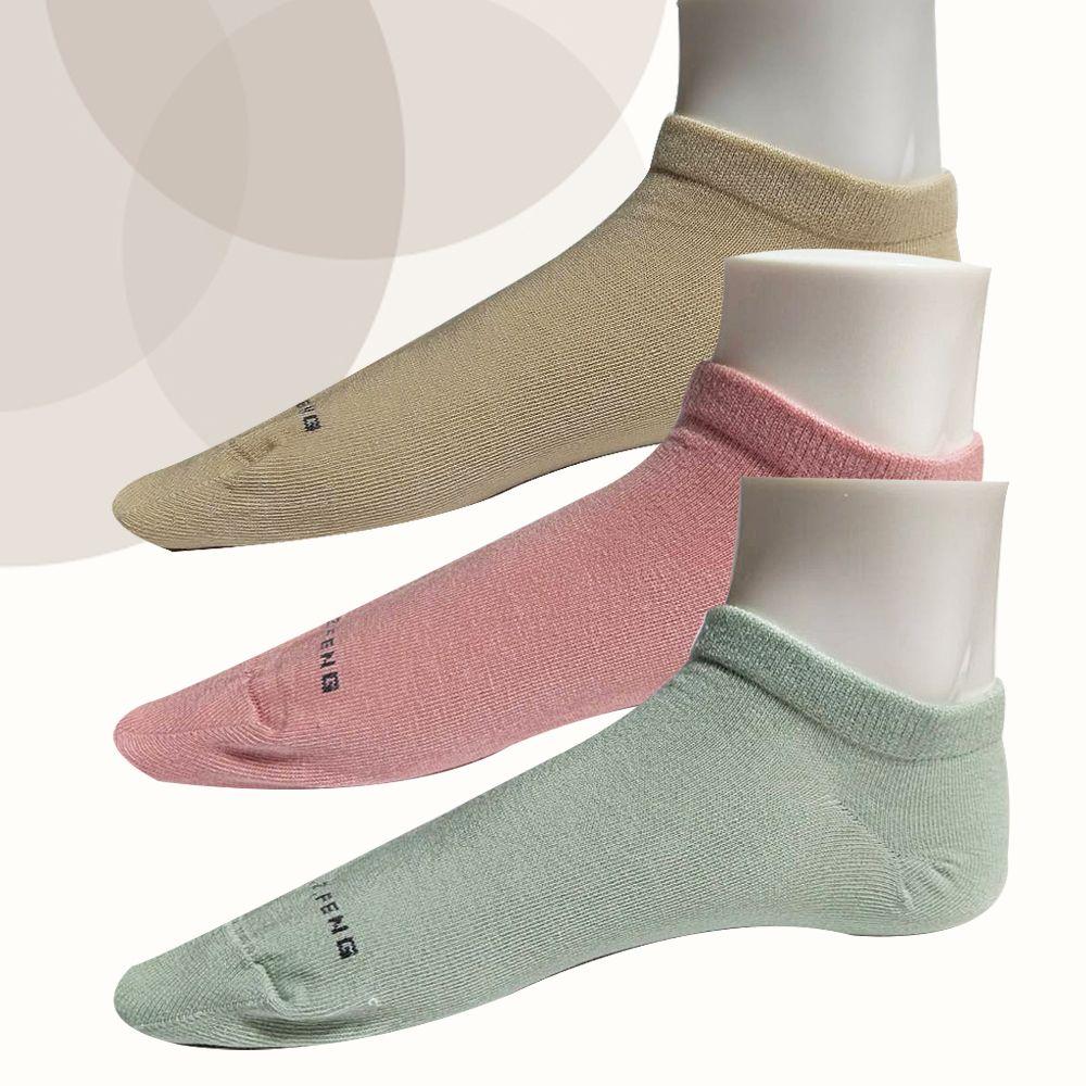 本之豐, 船襪, 莫蘭迪色冷淡彩度精梳棉抗菌消臭腳趾無縫縫合 款